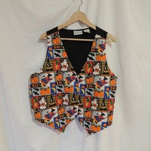 Basic editions Vintage Halloween Vest Women's XL